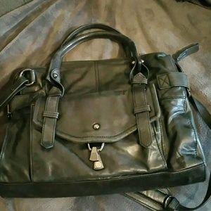 Kooba black satchel distressed leather